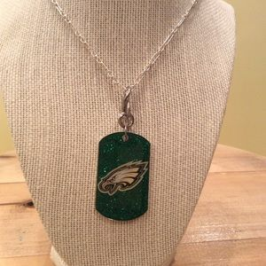 Jewelry - 💯 authentic sterling silver chain, Eagles dog tag